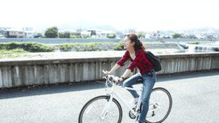 女性の自転車対策夏